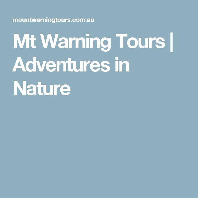 Mt Warning Tours |  Adventures in Nature
