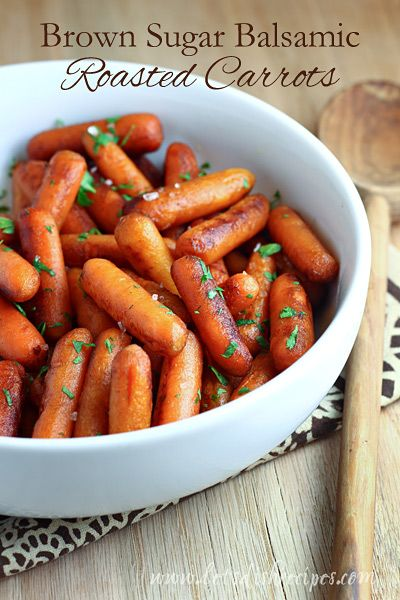 Brown Sugar Balsamic Roasted Carrots on MyRecipeMagic.com