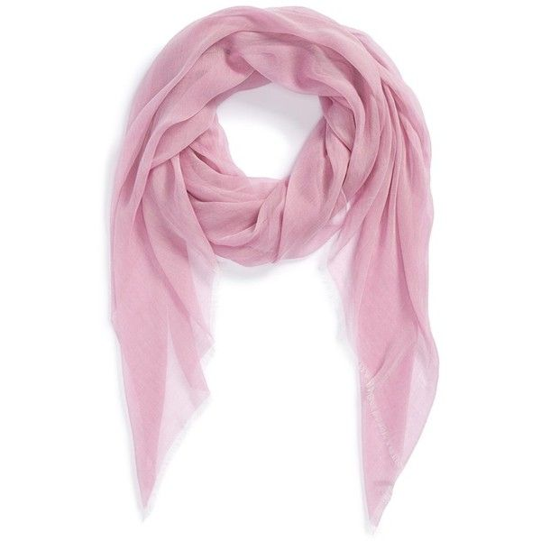 Nordstrom Modal Silk Blend Scarf ($38) ❤ liked on Polyvore featuring accessories, scarves, white, fringed shawls, white scarves, nordstrom scarves, fringe scarves and white shawl