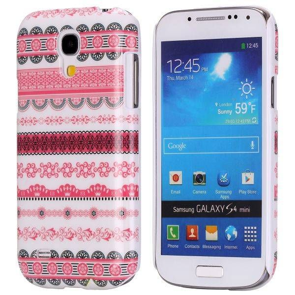 Roze tribal stijl hoesje Samsung Galaxy S4 mini