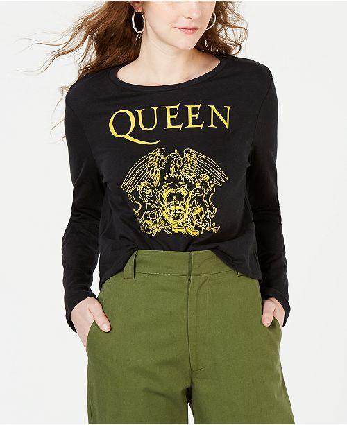 511c0503 main image Junior Tops, Graphic Prints, Queen, T Shirt, Graphic Sweatshirt,