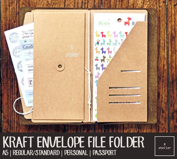 This listing is for PACK OF 3 Kraft Envelope File Folders at reasonable price!
