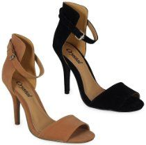 NEW WOMENS LADIES SUEDE ANKLE STRAP BUCKLE HIGH STILETTO HEEL SANDALS SHOES 3-8
