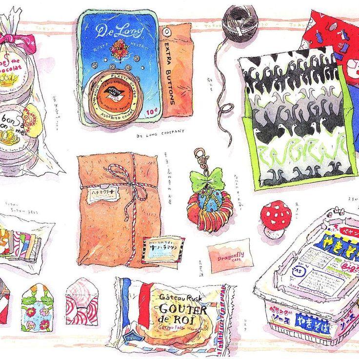 いつかの東京土産♪ Souvenirs in Tokyo  #souvenir #tokyo #paper #rusk #sweet #package #design #tea #colorful #東京土産 #パッケージ #デザイン #カラフル #ペヤング #ラスク #お菓子 #スイーツ #紙もの #レターセット #紅茶