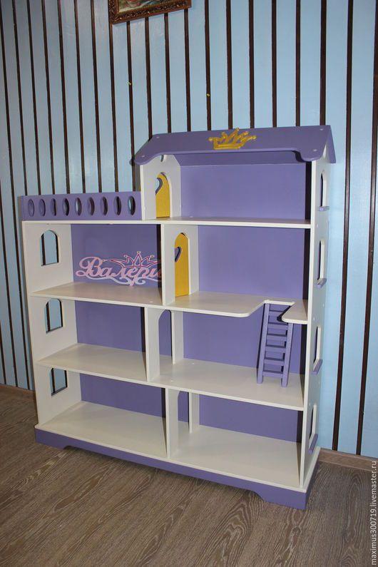 Кукольный дом ручной работы. Ярмарка Мастеров - ручная работа. Купить Кукольный домик. Стеллаж для детской.. Handmade. Фиолетовый, для девочки