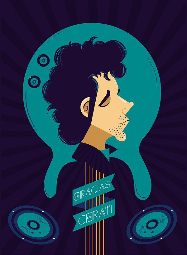 12 ilustradores decidieron rendirle un homenaje a Gustavo Certai a través de sus habilidades. http://losneopublicistas.com/portfolio/arte/cerati-en-12-ilustraciones/
