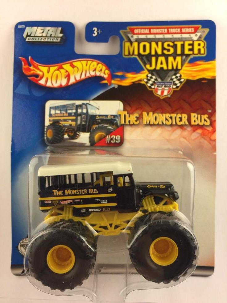 Hot Wheels Monster Jam The Monster Bus School 39 2002 Diecast Monster Truck 1/64 #HotWheels