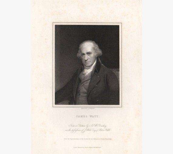 James Watt portrait engraving