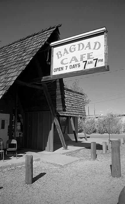 Route 66. The Bagdad Cafe of Newberry Springs, California, found In the middle of the Mojave Desert on Rt. 66. They shot the movie here, in 1988. More fun at my Rt. 66 Facebook Page: http://on.fb.me/mcWEgx
