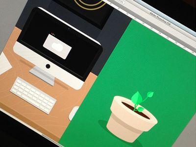 Office illustrations (wip) by Luboš Volkov