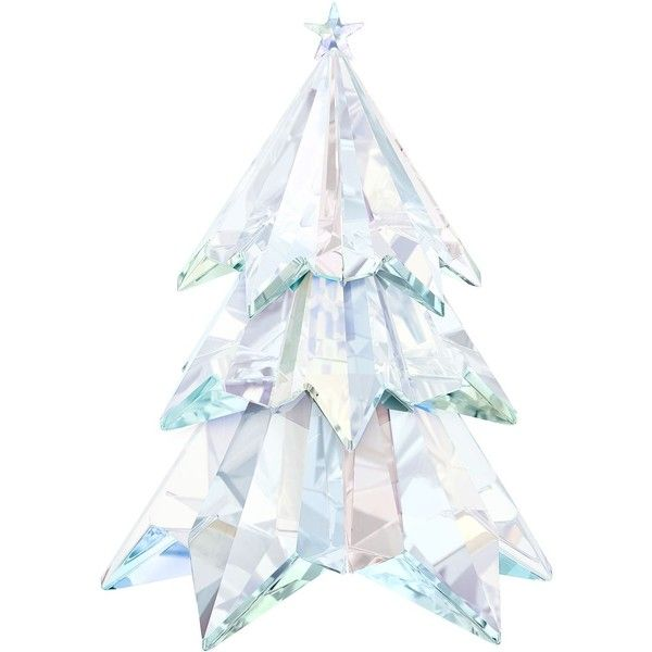 Swarovski Crystal Tree Decoration ($335) ❤ liked on Polyvore featuring home, home decor, holiday decorations, tree branch decorations, star home decor, swarovski ornaments, swarovski crystal ornaments and snow ornaments