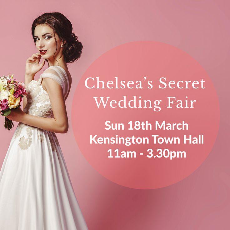 Chelsea's Secret Wedding Fair at Kensington Town Hall on 18th March 2018.
