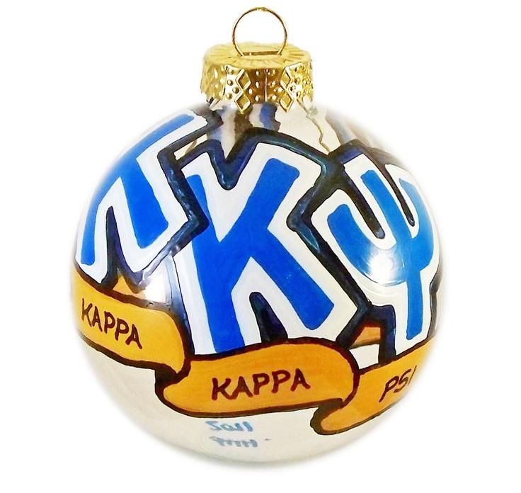 Very Small Handpainted Kappa Kappa Psi Ornament. $10.00, via Etsy.