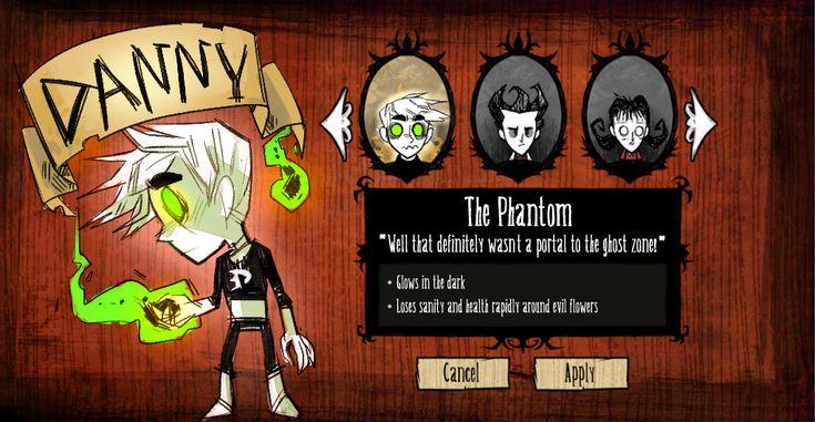 dont starve meme danny phantom by lazerfight