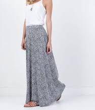 Resultado de imagem para saias compridas com blusas de manga media