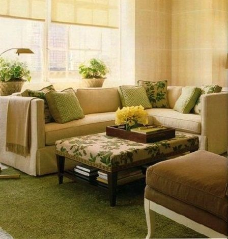 22 best green living room images on pinterest green for Yellow green living room ideas