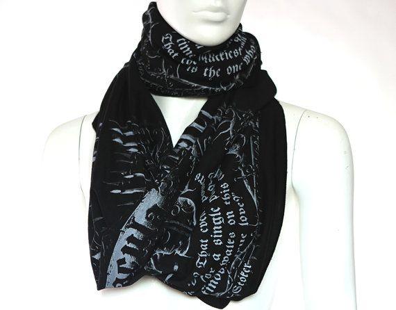 dracula book scarf