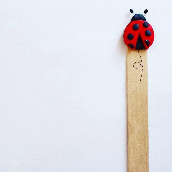 Segnalibri con animali bomboniera - coccinella, segnalibro, bookmark, fimo, bomboniera, bomboniere, favors, comunione, battesimo