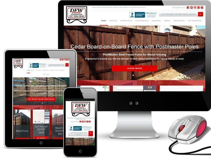 Top Rated Web Designer Fort Worth Texas Over 120 Five Star Web Design Reviews On Google Business Are Yo Web Design Website Design Company Fencing Companies