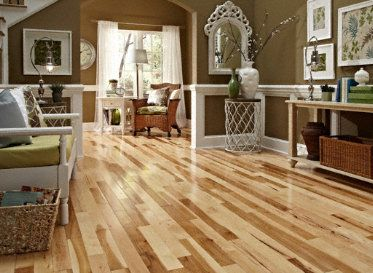 """Builder's Pride- 3/4"""" x 3-1/4"""" Natural Hickory Prefinished Solid Flooring"""
