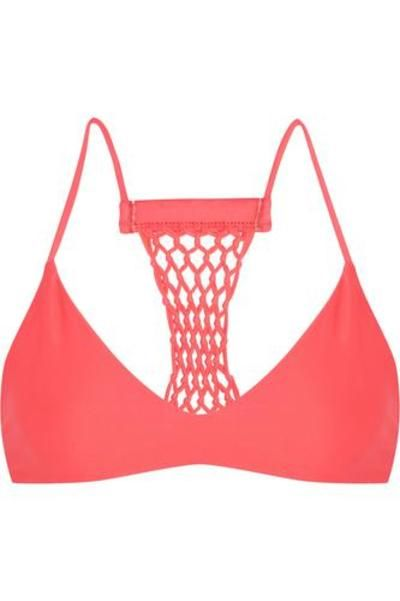 Maui crocheted racer-back bikini top #swimwear #beachtrip #vacation #sunny #women #covetme #mikoh