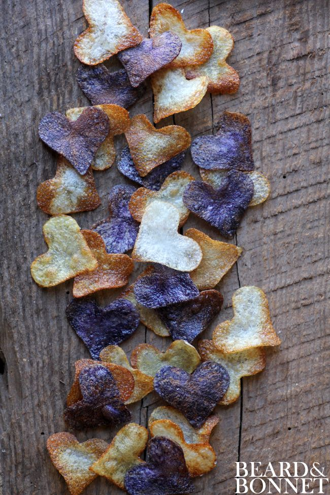 small Batch Potato Chips for Valentine's Day (Gluten-Free and Vegan) diy and recipe