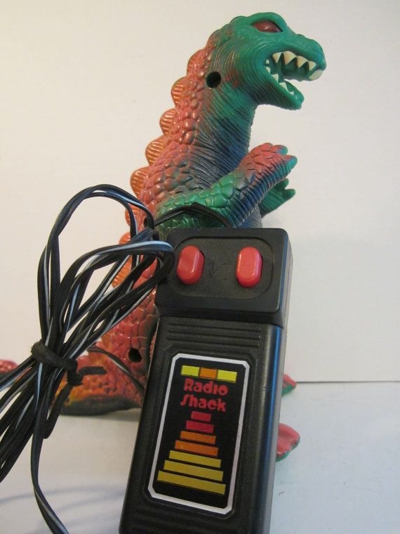 Radio Shack Toys For Boys : Walking godzilla remote controlled dinosaur working