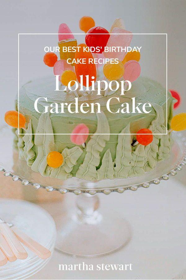 Outstanding Lollipop Garden Cake Recipe Garden Cakes Cake Lollipop Funny Birthday Cards Online Overcheapnameinfo