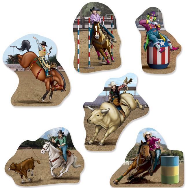 Rodeo Cutouts | Western party decorations, Rodeo birthday parties ...