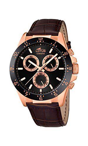 Lotus 18158/4 - Reloj de pulsera hombre, Cuero, color Marrón