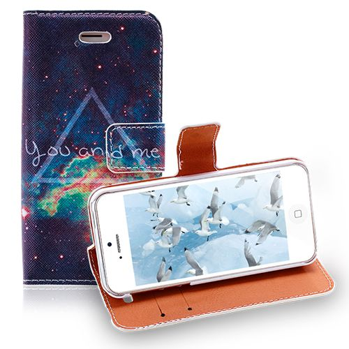 Romantic iPhone 5 5S Case - Starry Sky You and Me Pattern Cover #romantic #case #iphone5 #apple #stars #smartphone #cover #cellphone $6.28
