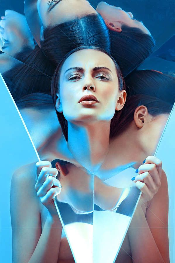 Sculptural Headpiece Editorials - The Electric Blue Image Series by Magda Zych Defies Convention (GALLERY)