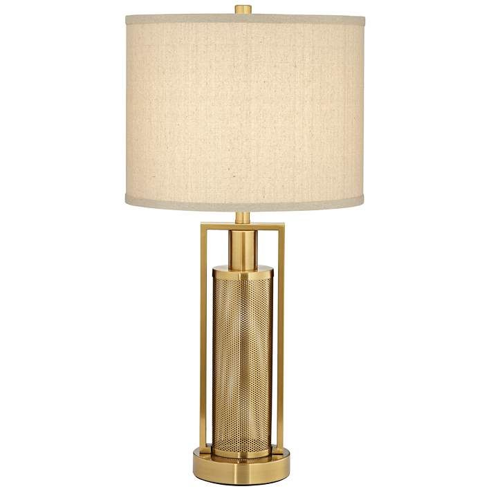 Franklin Iron Works Milly 28 High Night Light Table Lamp 36x30 Lamps Plus Table Lamp Lamp Metal Table Lamps