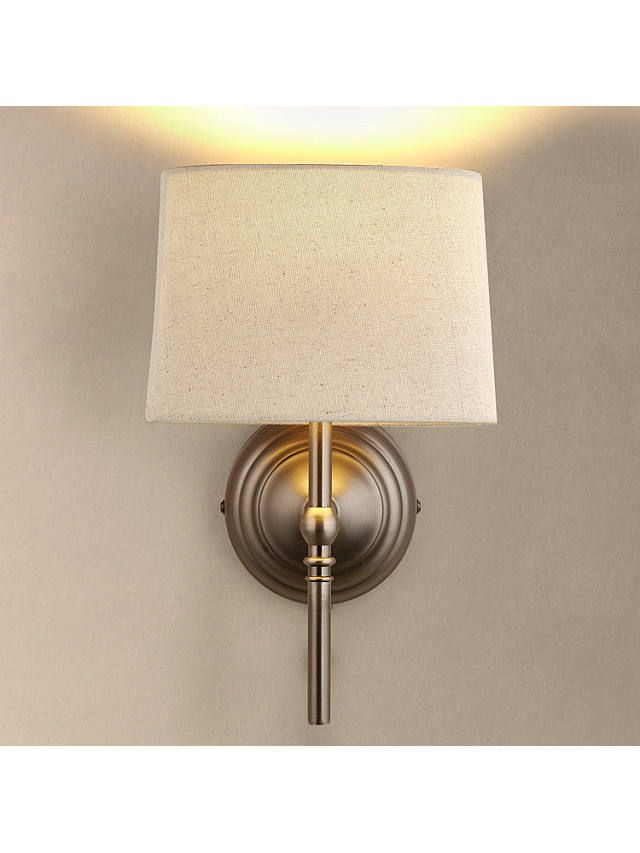 John Lewis Partners Isabel Wall Light 1 Light Pewter Wall Lights Wall Berry Living Room