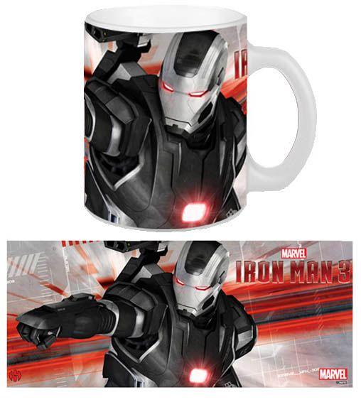 Taza War Machine. Iron Man 3 Estupenda taza con la imagen de la armadura máquina de guerra, 100% oficial, licenciada y fabricada en cerámica que de buen seguro gustará a todos los miles de fans de Iron Man.