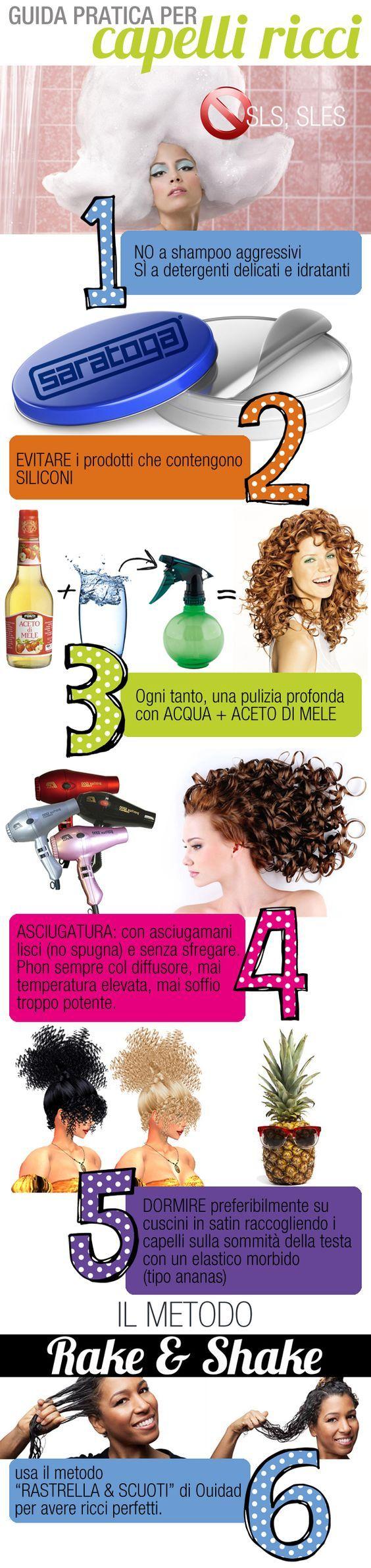 Guida pratica alla cura dei capelli ricci. #ricci #capelli #capelliricci #curls #curlyhair