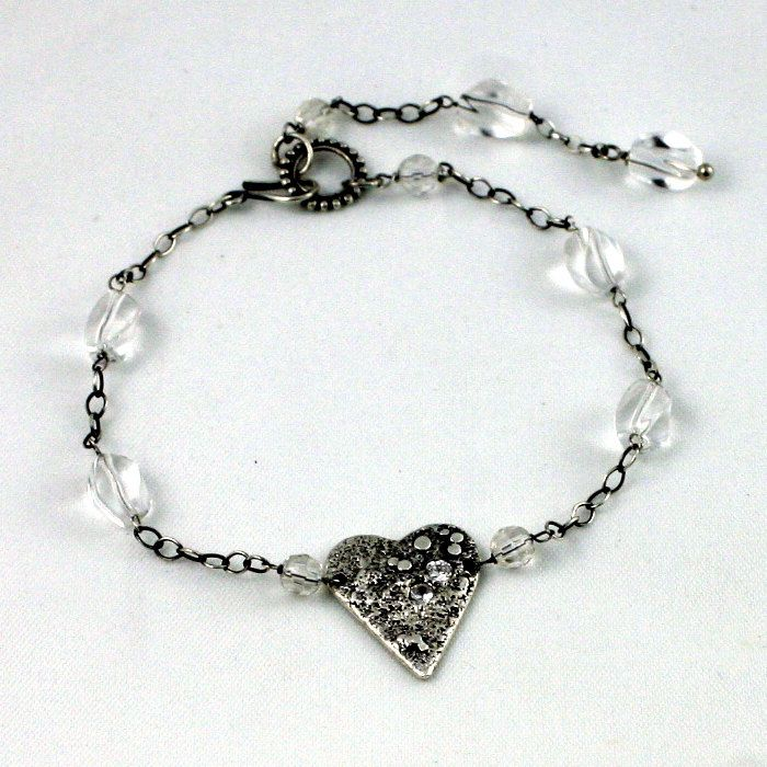 Heart bracelet by wazkastudio on Etsy