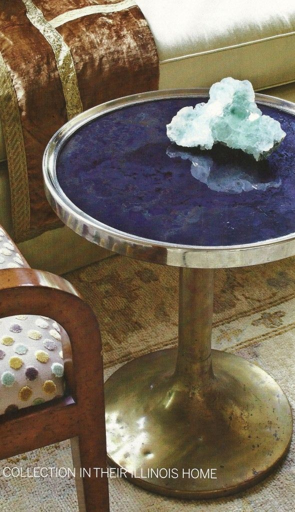 Geod on table geode jewelry pinterest home the o for Geode side table