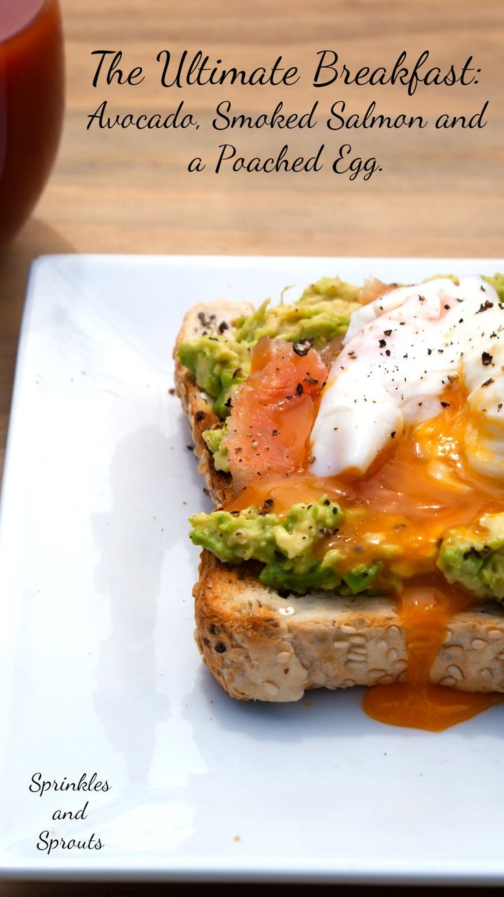 Toast with Avocado Spread, Smoked Salmon and a Poached Egg. A delicious, nutritious and elegant brunch dish.