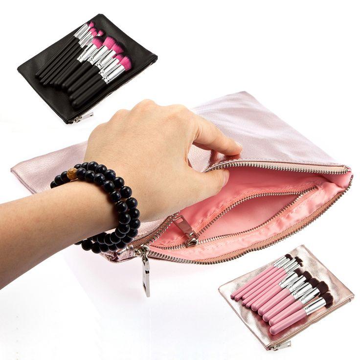 New Makeup Cosmetic Lipstick Brush Holder Bag Organizer Storage Case 1STL