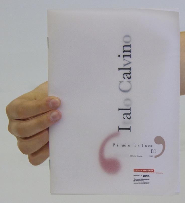 Folleto sobre texto de ÍTalo Calvino. #folleto #brochure #italocalvino #porqueleerlosclasicos #diseño #diseñografico #design #graphicdesign #printdesign