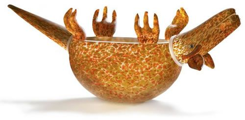 Armadillo Bowl, Orange- by Borowski