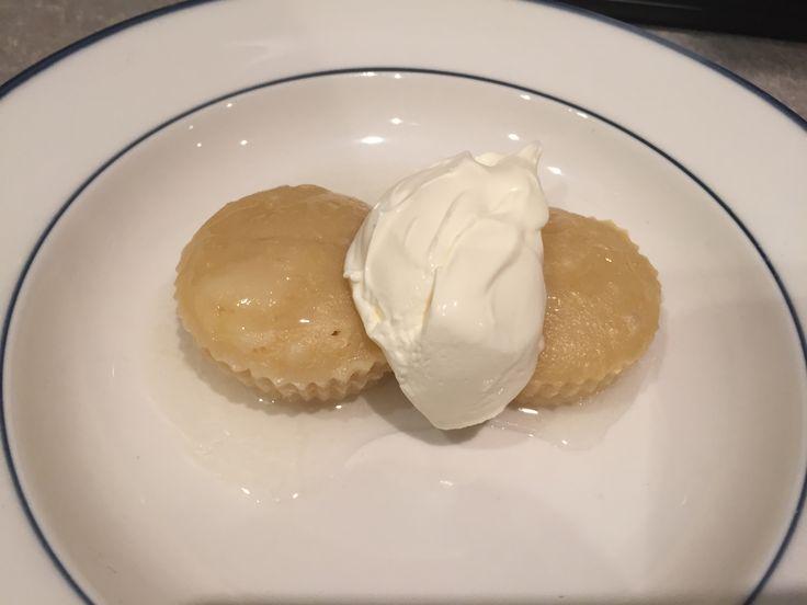 Steamed lemon puddings with lemon syrup.   www.recipecommunity.com.au/desserts-sweets-recipes/lemon-cupcakes-citrus-syrup/87076