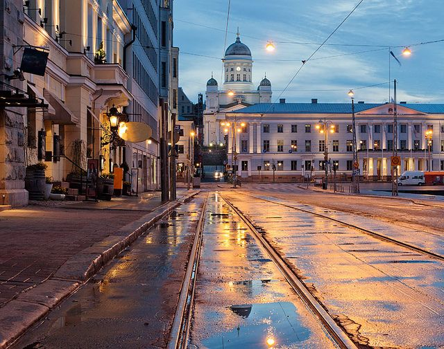 Helsinki after the rain by Spectacolor, via Flickr (Finland)