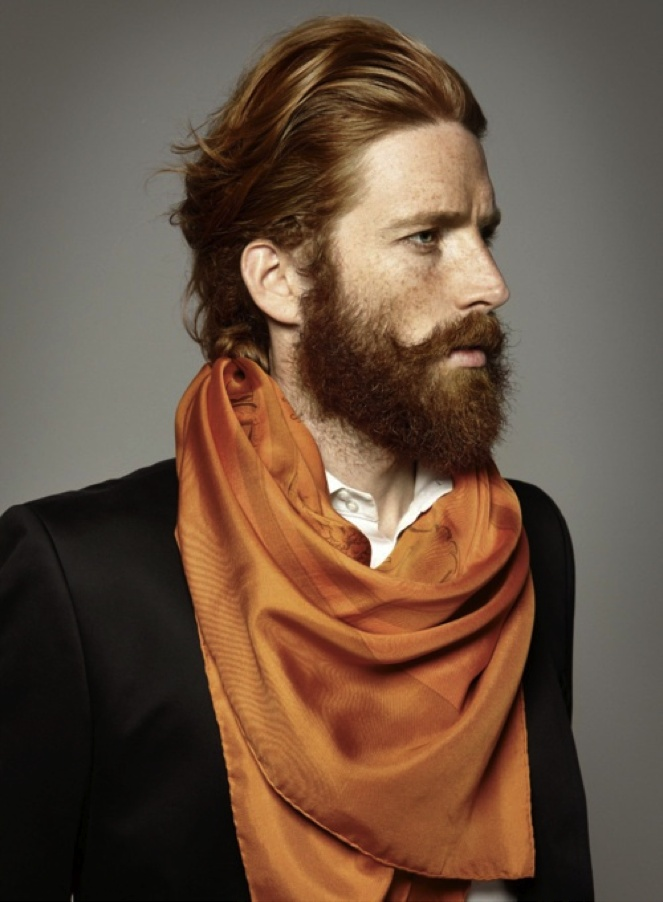 The ever elusive ginger-beard. I think he should go with the handlebar mustache and shave the beard. What do y'all think?