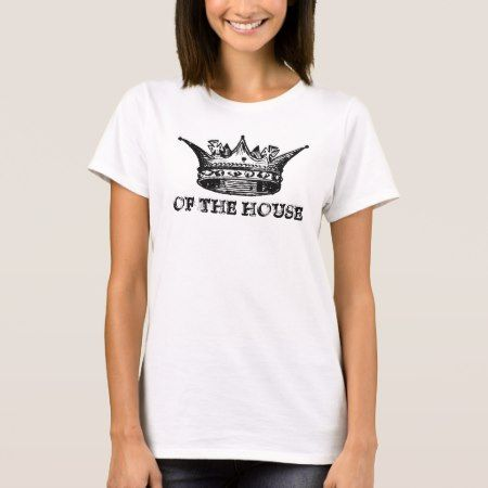 Queen of the House Ladies Fitted Spaghetti Top - click/tap to personalize and buy