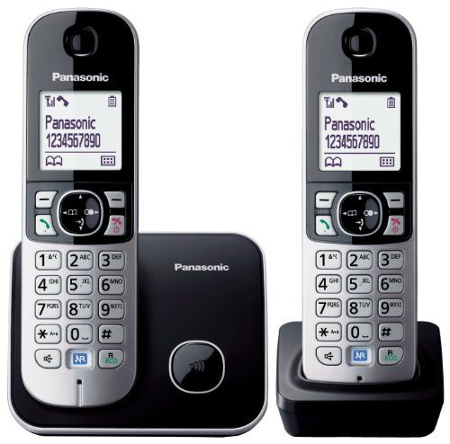 From 23.99 Panasonic Kx-tg6812eb Twin Dect Cordless Telephone Set