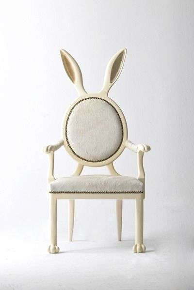 The hybrid rabbit chair drawing inspiration from alice in wonderland merve kahraman present buyable