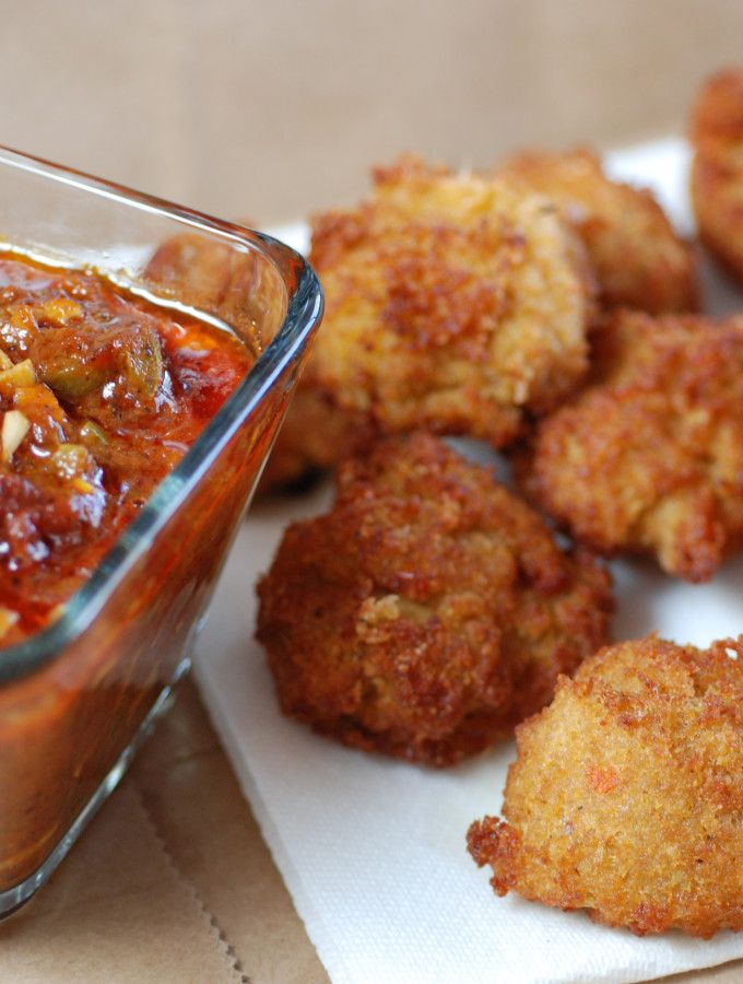 Congo Akara with Dipping Sauce is a typical street food get the recipe and learn about the culture at http://www.internationalcuisine.com