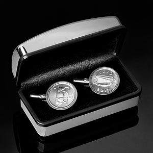 Cufflinks: Silver Cufflink, Vintage Cufflinks & Buy Antique Cufflinks - World Coin Cufflinks